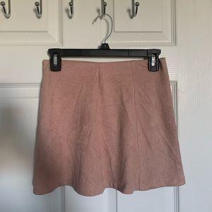 velvet pink skirt